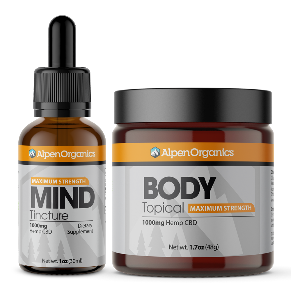 BUNDLE: Mind (Tincture) 1000mg + Body (Topical) 1000mg